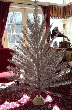 Brilliant 1950s Taper Tree Aluminum Christmas Tree by KrauseHaus