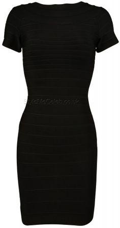 Taylor Black Bandage Dress