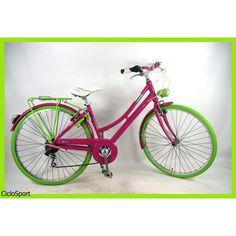 """Bicicletta da donna """"SPEED"""" in alluminio - Cambio Shimano 7V Completa di accessori"""