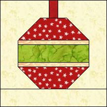 Block of the Day for December 23, 2013 - Christmas Ornament #2.   www.quiltpro.com