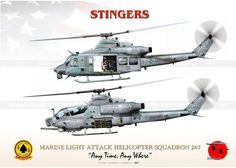 "AH-1Z & UH-1Y HMLA-267... UNITED STATES MARINE CORPS MARINE LIGHT ATTACK HELICOPTER SQUADRON 267 ""STINGERS"" ""Any Time, Any Where"""
