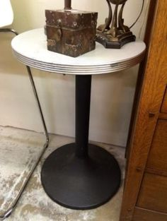 Industrial Style Side Table  $95  Lula B's  1010 N. Riverfront Blvd. Dallas, TX 75207  Open Daily Mon. -- Sat. 10 to 6 Sun. 12 to 6  Like us on Facebook: https://www.facebook.com/pages/Lul