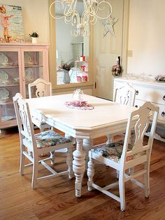 O Que é Shabby Chic? Shabby Chic Dining RoomShabby ...