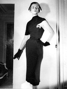 1951 - Christian Dior's cocktail dress  by Bill Brandt