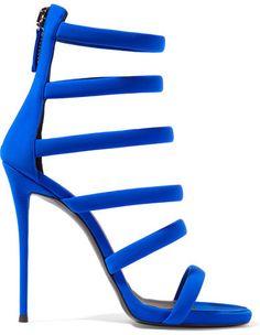 Giuseppe Zanotti - Crepe Sandals - Cobalt blue