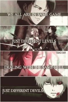 Anime: Attack on Titan Sword Art Online No Game No Life Tokyo Ghoul (c . - Anime: Attack on Titan Sword Art Online No Game No Life Tokyo Ghoul (c) Owner # - Sad Anime Quotes, Manga Quotes, Meaningful Anime Quotes, Anime Quotes About Life, Film Anime, Manga Anime, Anime Art, Schwertkunst Online, Life Online