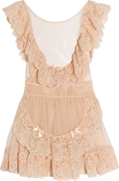 AGENT PROVOCATEUR Lucienne Tulle and Lace Pinafore Babydoll - Lyst