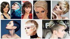 Модные короткие стрижки 2018 года для женщин на фото. Стильные стрижки на короткие волосы вид сзади: каре, боб, с челкой, пикси. Модные прически на 2018.