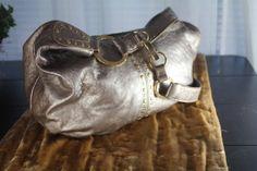 Vintage 1980s Sigrid Olsen Metallic Hobo Bag -- Handbags - Inspirations by Rebecca -- vintage Sigrid Olsen bag -- www.inspirationsbyrebecca.com