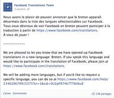 #Facebook débarque avec une nouveauté, la langue #bretonne ! #bretagne #bzh #breizh #réseauxsociaux #culturebretonne
