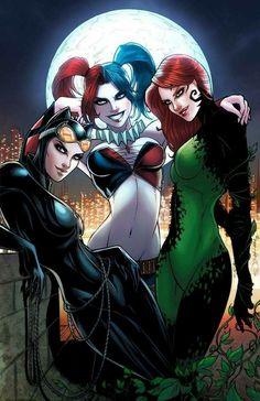 Gotham City Sirens Catwoman Harley Quinn Poison Ivy