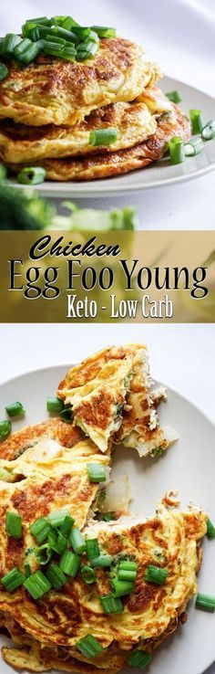 Fast and easy Chicken Egg Foo Young with how-to video -- only 1.5 grams net carb apiece! Great creation from Keto Connect #healthylowcarb #healthy #lowcarb