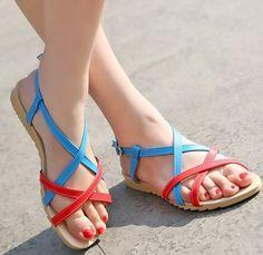 ENMAYER Fashion Women Summer Shoes 2014 Brand New Design Rome Stylish Beaded Bohemia Sandals $44.63