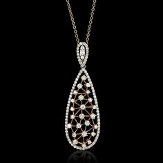 Bubbles Necklace - Diamond and Rose Gold - JYOTI  #bubbles #collection #diamond #rose #gold #rosegold #necklace #designer #JYOTI #couture #jewelry