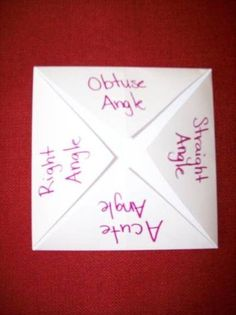 foldable for teaching lines and angles | math foldables