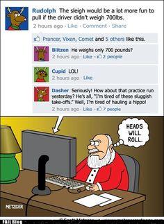 oh lord, reindeer on facebook.