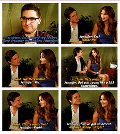 Josh Horowitz from MTV wins for doing the best interview with Josh & Jen. Brilliant from beginning to end. I also find it funny that Josh says, British cuz Jens boyfriend is British, ...ahhh.