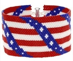 Free 4th of July Bracelet Video Tutorial from Beadaholique.com featured in Bead-Patterns.com