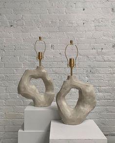 Ceramic Pottery, Ceramic Art, Ceramic Sculpture Figurative, Home Decor Furniture, Furniture Design, Ceramic Light, Lighting Concepts, Ceramic Design, Lamp Bases