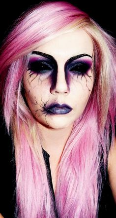 A creepy & demon FX makeup job, paired with Black Sclera Contacts for the ultimate effect => http://www.pinterest.com/pin/350717889705707881/
