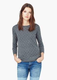 Polka-dot pattern sweater