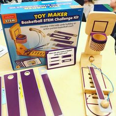The boys in my class went CRAZY over our new Basketball STEM kit from @lakeshorelearning! 😍 The challenge cards really got them thinking about which arms are best for the court when the bar is placed in different slots, great for critical thinking. They didn't want to stop! Check out my story to see it in action and check out their website to grab yours! 👍🏼🏀#lakeshorelearning #stem Steam Learning, Challenge Cards, Stem Skills, Lakeshore Learning, Stem Steam, Stem Challenges, Critical Thinking, Arms, Basketball