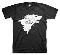 house stark remeras color animal winter is coming game of thrones Winter Is Coming Stark, Game Of Thrones 4, Style Wish, My Style, House Stark, Animal, Mens Tops, T Shirt, Color