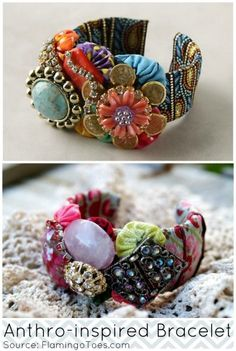 Anthropologie inspired bracelet - by FlamingoToes.com