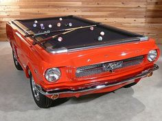 1965 Ford Mustang Turned into a Pool Table - 16 Brilliant Pieces of Furniture Made from Recycled Car Parts Car Furniture, Furniture Making, Automotive Furniture, Automotive Decor, Automotive News, Recycled Furniture, Furniture Online, Modern Furniture, Furniture Design