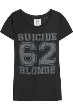 Suicide Blonde cotton and modal-blend T-shirt by Zoe Karssen