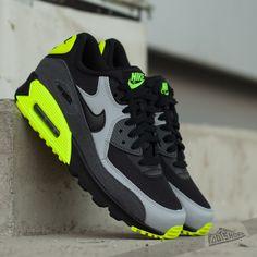 Nike Air Max 90 Mesh (GS) Black/ Black- Wolf Grey- Dark Grey - Footshop