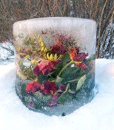 Flowers for the wintergarden. What beautiful things u can make just using water, a bucket and flowers that are going to be thrown away.