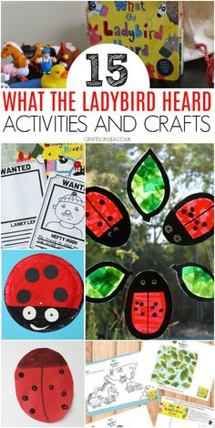 Easy and fun What The Ladybird Heard activities and crafts with activity sheets, colouring, literacy ideas, ladybird crafts and farm animal crafts. Art And Craft Videos, Easy Arts And Crafts, Fun Crafts For Kids, Toddler Crafts, Projects For Kids, Art For Kids, Project Ideas, Eyfs Activities, Spring Activities