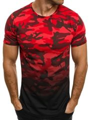 BREEZY 525BT T-SHIRT MĘSKI CZERWONY Urban Fashion, Boy Fashion, Mens Fashion, Camouflage Fashion, Herren T Shirt, Shirt Designs, Men Casual, Mens Tops, Clothes