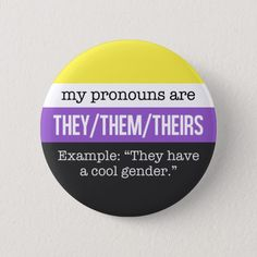 They/Them Pronouns - Nonbinary Flag Button, Adult Unisex, Size: ¼ Inch, Pale Blue / Yellow / Medium Purple michael kors brown michael kors blue michael kors outlet michael kors louis vuitton michael kors tote michael kors 2018 Nonbinary Flag, They Them Pronouns, Lgbtq Flags, Lgbt Love, Genderqueer, Pin And Patches, Gay Pride, Pride Flag, Saga