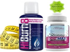 HiBurn8 16oz - Skinny Body Max 120caps, Day/Night Time All Natural Weight Loss Supplement Bundle Collagen Calcium Raspberry Keytones, Cayenne, Garcinia Cambogia, VitaminB6, Melatonin Chamomile * See this great image  : Weight Management