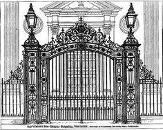 ornate iron #driveway #gates