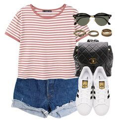"""""""Sin título #12402"""" by vany-alvarado ❤ liked on Polyvore featuring Levi's, MANGO, Chanel, adidas Originals, Ray-Ban and Forever 21"""