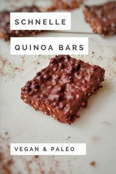 Schnelle & einfache Quinoa Bars - and easy food recipes snacks Schnelle & einfache Quinoa Bars Quinoa Vegan, Quinoa Bars, Quinoa Recipe, Recipe Recipe, Bolo Vegan, Cake Vegan, Dessert Simple, Keto Recipes, Cake Recipes