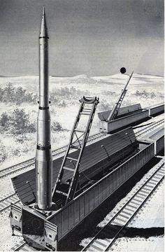 Atomic Missile Railway Car. POST - April 1960