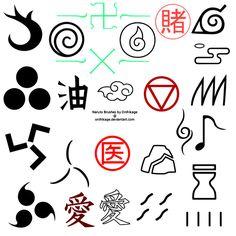 Naruto Photoshop Brushes by Onihikage on DeviantArt Naruto Tattoo, Anime Tattoos, Wallpaper Naruto Shippuden, Naruto Wallpaper, Ethnisches Tattoo, Naruto Nails, Naruto Symbols, Naruto Birthday, Naruto Sharingan