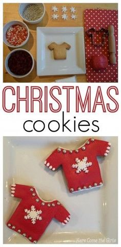 Christmas Jumper Biscuits - a fun cookie recipe which makes a lovely personalised gift.