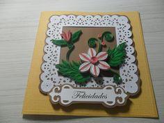 Cartão especial (quilling) produzido por Mônica Guedes