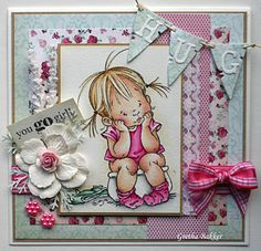 Adorable card by Gretha Bakker with Mo's Digital