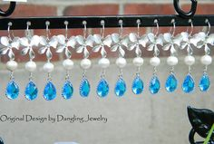 Bridesmaid Gifts Marine Blue Set of Six Orchid by DanglingJewelry, $195.00