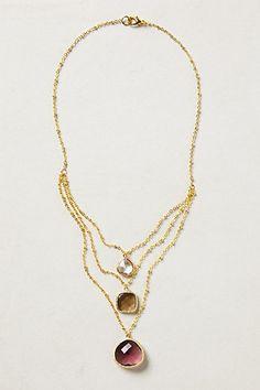 Gem Drop Necklace  #anthropologie