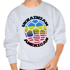 Ukrainian American Soccer Children's Pullover Sweatshirts. Love #soccer? Check this out! To see this design on a range of other products, please visit my store: www.zazzle.com/celticana*/ #UkrainianAmerican #zazzle