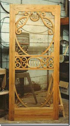 Vintage screen door ideas shutters 47 ideas for 2019 Vintage Screen Doors, Wood Screen Door, Wooden Screen, Victorian Porch, Victorian Homes, Old Doors, Windows And Doors, Unique Doors, Victorian Architecture