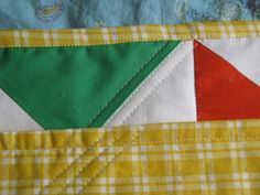 Quilt Backing Self-Binding Tutorial...see tip for ending stitching with needle for more finished look.