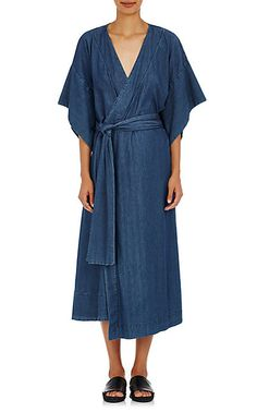 We Adore: The Denimono Wrap Dress from Warm at Barneys New York